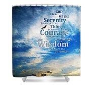 Serenity Prayer 3 - By Sharon Cummings Shower Curtain by Sharon Cummings