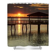 Setting Sun Shower Curtain by Phill  Doherty