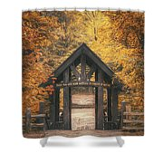 Seven Bridges Trail Head Shower Curtain by Scott Norris
