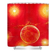 Seven Suns Shower Curtain by Murphy Elliott