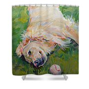 Seventh Inning Stretch Shower Curtain by Kimberly Santini