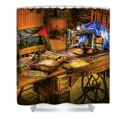 Sewing Machine  - Sewing Machine Iv Shower Curtain by Mike Savad