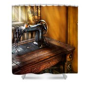 Sewing Machine  - The Sewing Machine  Shower Curtain by Mike Savad