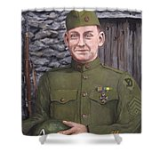 Sgt Sam Avery Shower Curtain by Jack Skinner