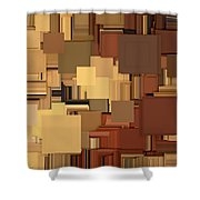Shades Of Brown Shower Curtain by Lourry Legarde