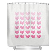 Shades Of Pink Shower Curtain by Aged Pixel
