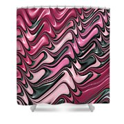 Shades Of Pink And Red Decorative Design Shower Curtain by Matthias Hauser