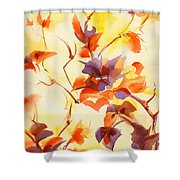 Shadow Leaves Shower Curtain by Summer Celeste