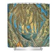 Shaman Spirit Shower Curtain by Kim Jones