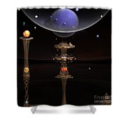 Shared Visions With Max Planck Shower Curtain by Peter R Nicholls