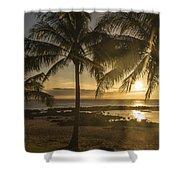 Sharks Cove Sunset 2 - Oahu Hawaii Shower Curtain by Brian Harig