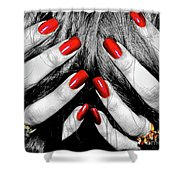 Shattered Dreams Shower Curtain by Joann Vitali
