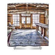 Shave and a Beer Shower Curtain by Fran Riley
