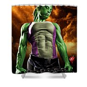 She-hulk 2 Shower Curtain by Pete Tapang