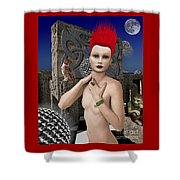 She Returns In Dreamland Shower Curtain by Keith Dillon