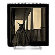 She Walks The Halls Shower Curtain by Barbara St Jean
