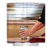 She Works Hard For The Money Shower Curtain by Lois Bryan