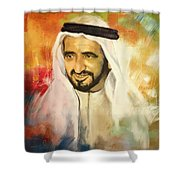 Sheikh Rashid Bin Saeed Al Maktoum Shower Curtain by Corporate Art Task Force