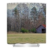 Shelter In The Midle Of Nowhere Shower Curtain by Paulette B Wright
