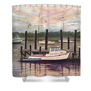 Shem Creek Shower Curtain by Ben Kiger