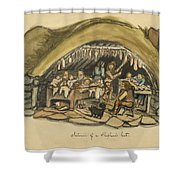 Shepherds Hut Iceland Circa 1962 Shower Curtain by Aged Pixel