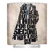 Sherlock - Benedict Cumberbatch Shower Curtain by Ayse Deniz