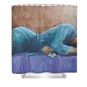 Sherry Shower Curtain by Jerry McElroy