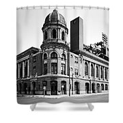 Shibe Park In Black And White Shower Curtain by Bill Cannon