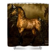 Shikoba Choctaw Horse Shower Curtain by Shanina Conway