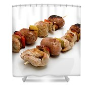 Shish Kebab Shower Curtain by Fabrizio Troiani