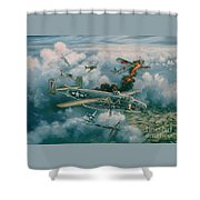 Shoot-out Over Saigon Shower Curtain by Randy Green