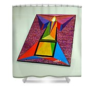 Shot Shift - Liberte 2 Shower Curtain by Michael Bellon