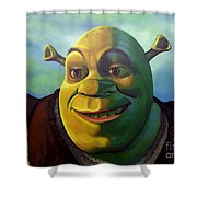 Shrek Shower Curtain by Paul Meijering