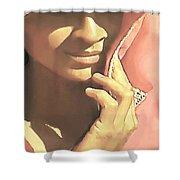 Shy Shower Curtain by SophiaArt Gallery