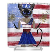 Siamese Queen Of The U S A Shower Curtain by Jamie Frier