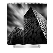 Side By Side Shower Curtain by Dave Bowman