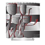 Side By Side Shower Curtain by Iris Gelbart