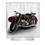 Sidecar Shower Curtain by Cheryl Young