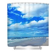 Siesta Sky - Beach Art By Sharon Cummings Shower Curtain by Sharon Cummings