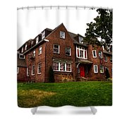 Sigma Phi Epsilon Fraternity On The Wsu Campus Shower Curtain by David Patterson
