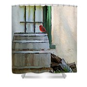 Signs Of Spring Shower Curtain by Ron Jones