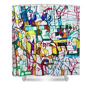 Silence Is Worth Double Shower Curtain by David Baruch Wolk