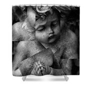 Silence Of A Seraphim  Shower Curtain by Jerry Cordeiro