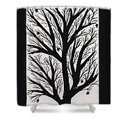 Silhouette Maple Shower Curtain by Barbara St Jean