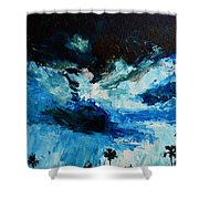 Silhouette Of Nature II Shower Curtain by Patricia Awapara