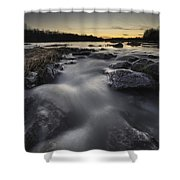 Silky River Shower Curtain by Davorin Mance