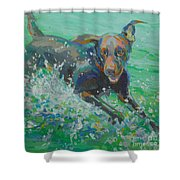Silly Goose Shower Curtain by Kimberly Santini