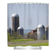 Silos - Norristown Farm Park Shower Curtain by Bill Cannon
