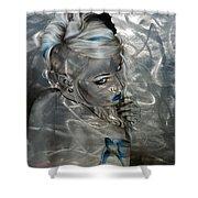 'silver Flight' Shower Curtain by Christian Chapman Art