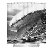 Silver Lining Shower Curtain by Sean Davey